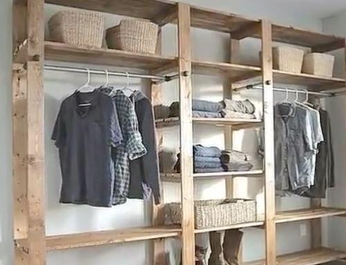 Een kledingkast van pallet hout past altijd
