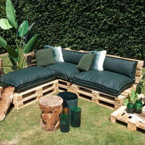 groene palletkussens set